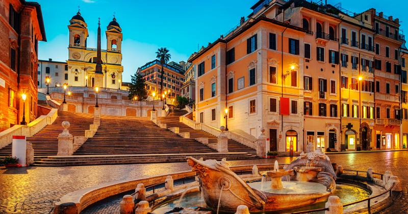 Spanska trappan i rom.